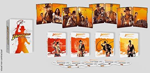 Coffret Indiana Jones 4 Films [Combo 4 UHD 5 BLURAY Limitee] [Édition SteelBook 4K Ultra HD Blu-Ray Bonus] 1